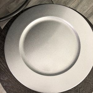 Silver/Gray glittery charger plates